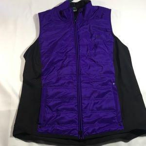 Lauren Ralph Lauren Purple Black Puffer Vest